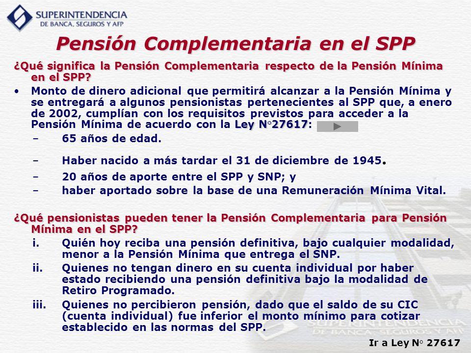 Pensión Complementaria en el SPP
