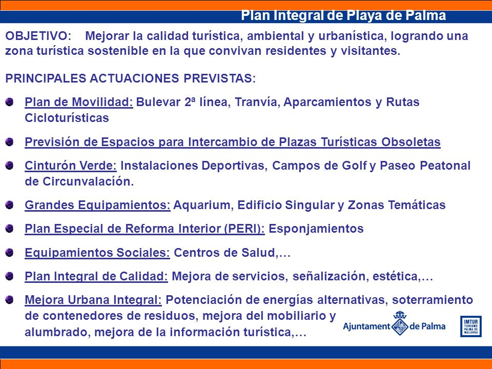 Plan Integral de Playa de Palma