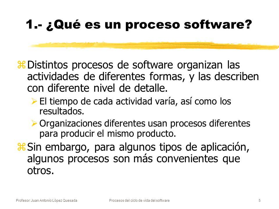 1.- ¿Qué es un proceso software