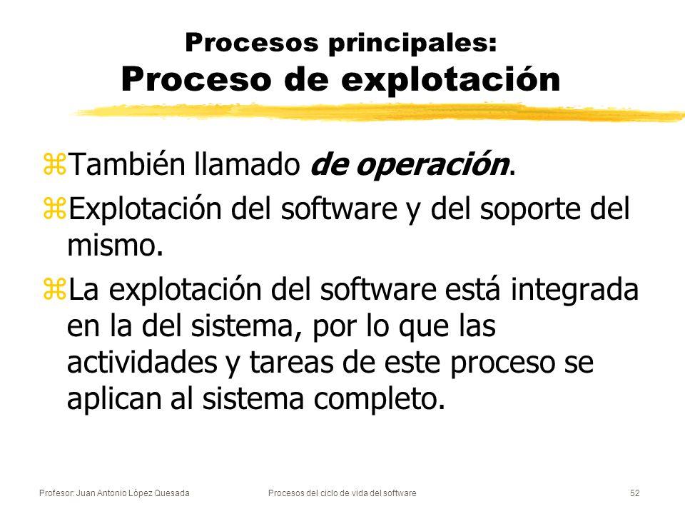 Procesos principales: Proceso de explotación