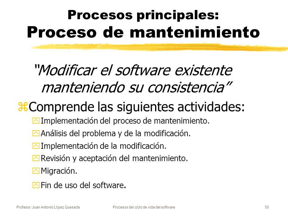 Procesos principales: Proceso de mantenimiento