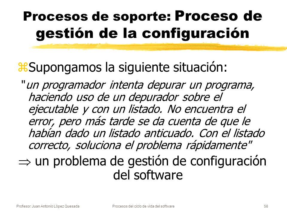 Procesos de soporte: Proceso de gestión de la configuración
