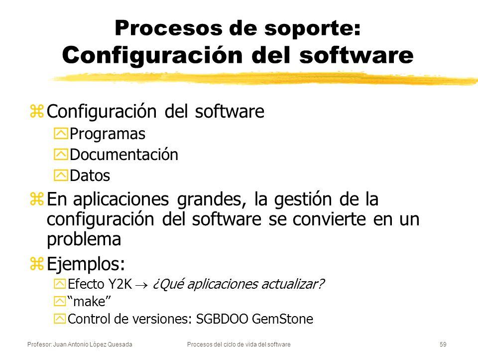 Procesos de soporte: Configuración del software