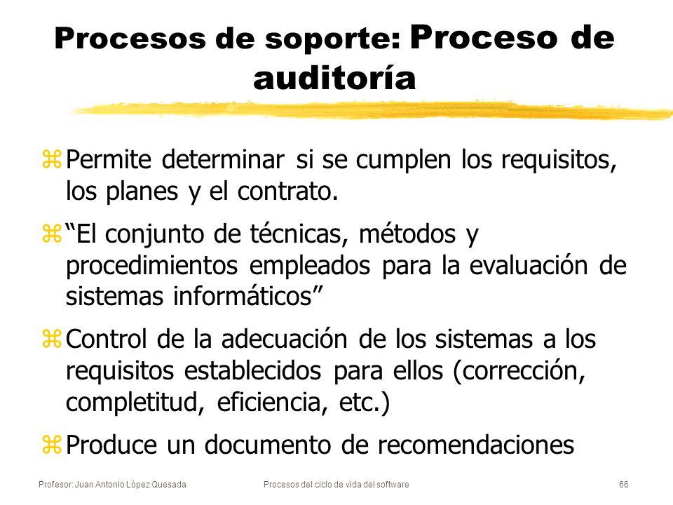 Procesos de soporte: Proceso de auditoría