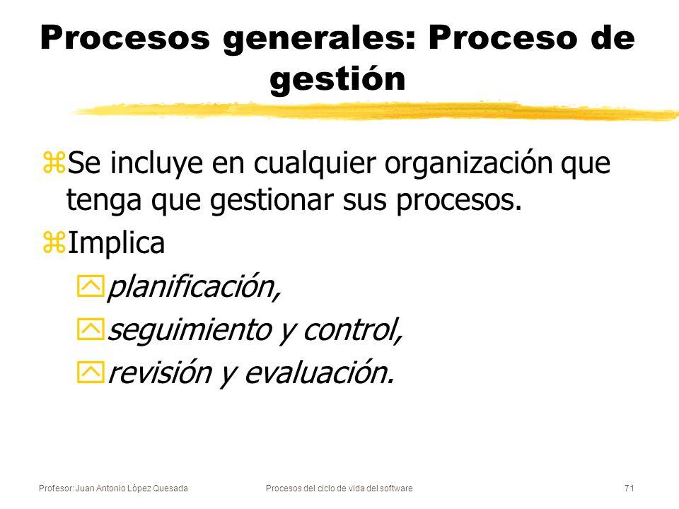 Procesos generales: Proceso de gestión