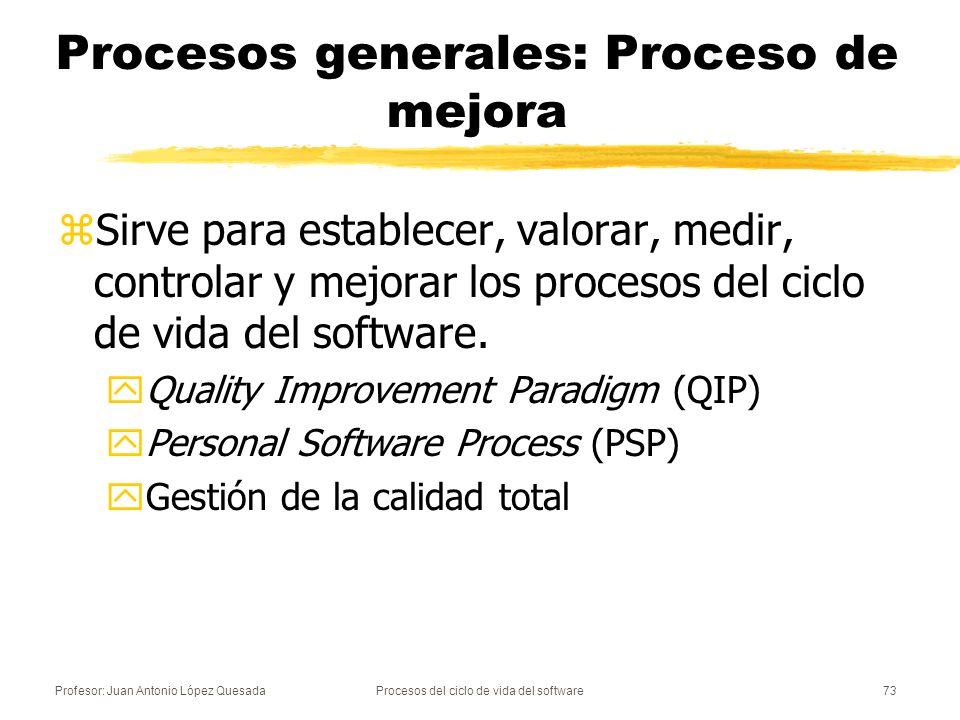 Procesos generales: Proceso de mejora