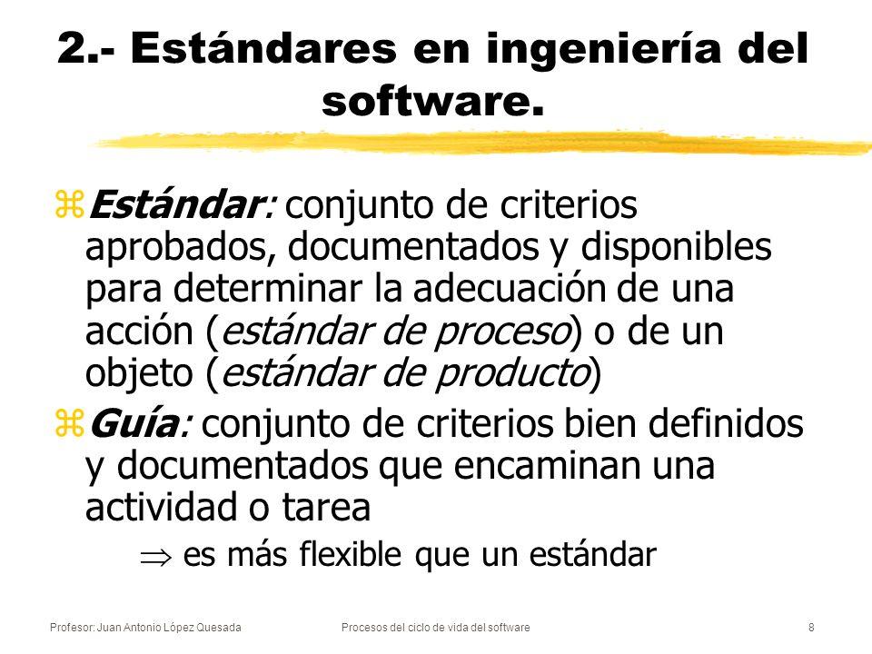 2.- Estándares en ingeniería del software.