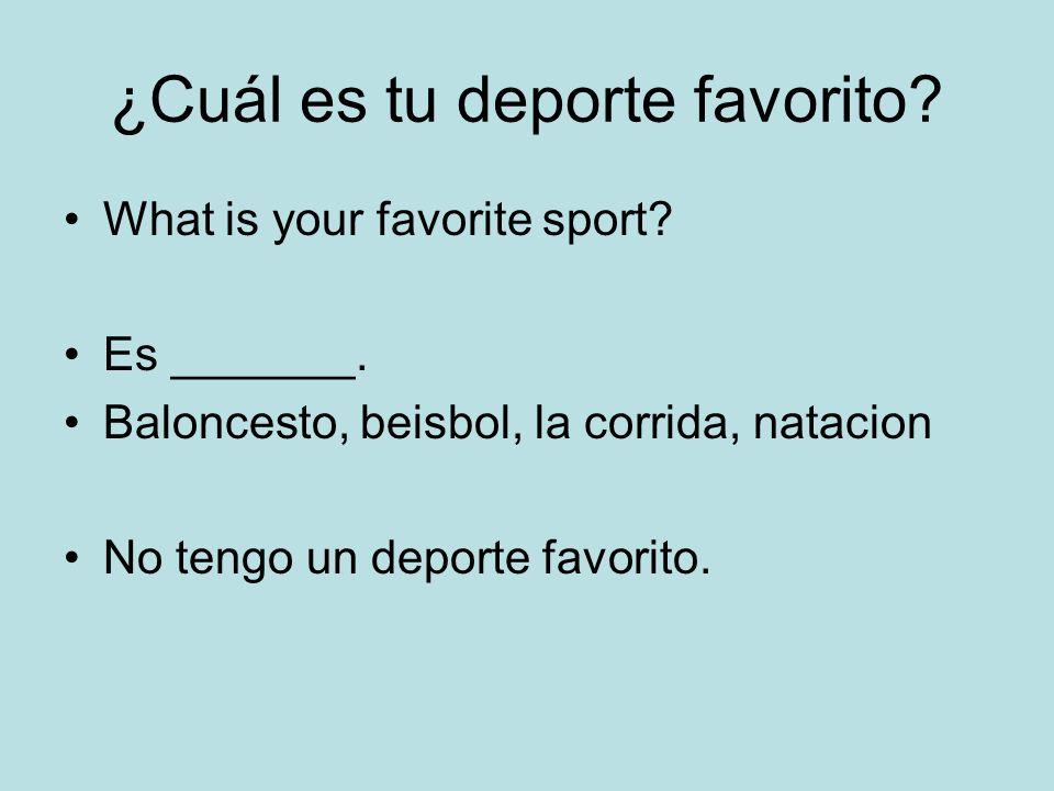 ¿Cuál es tu deporte favorito