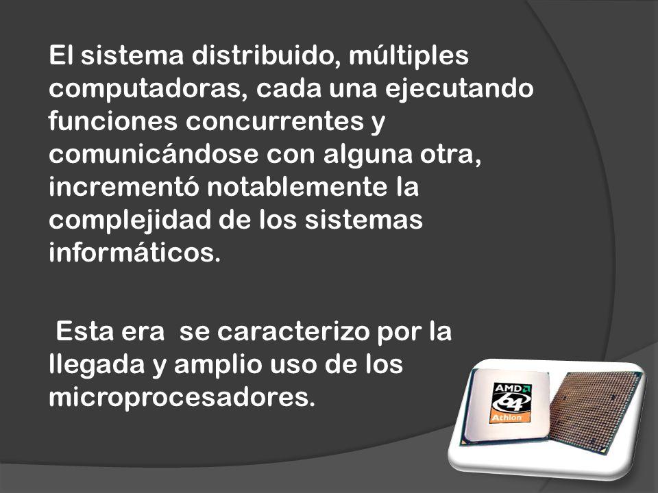 El sistema distribuido, múltiples computadoras, cada una ejecutando funciones concurrentes y comunicándose con alguna otra, incrementó notablemente la complejidad de los sistemas informáticos.