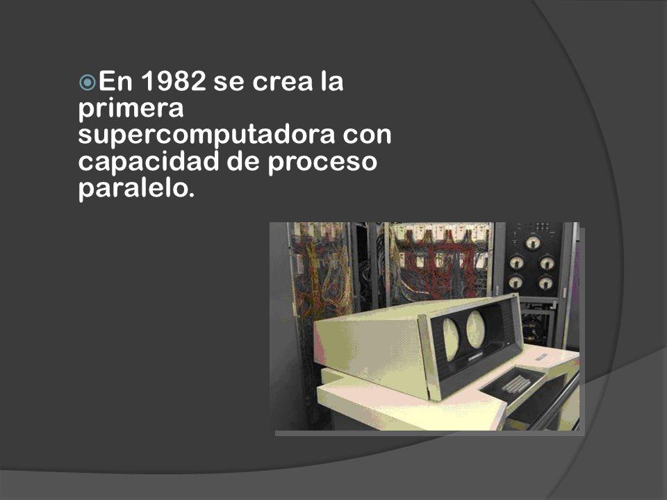En 1982 se crea la primera supercomputadora con capacidad de proceso paralelo.