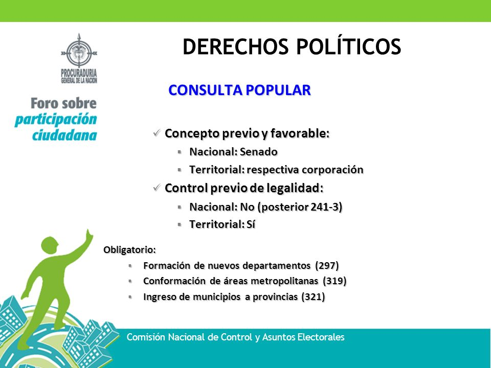 CONSULTA POPULAR Concepto previo y favorable: