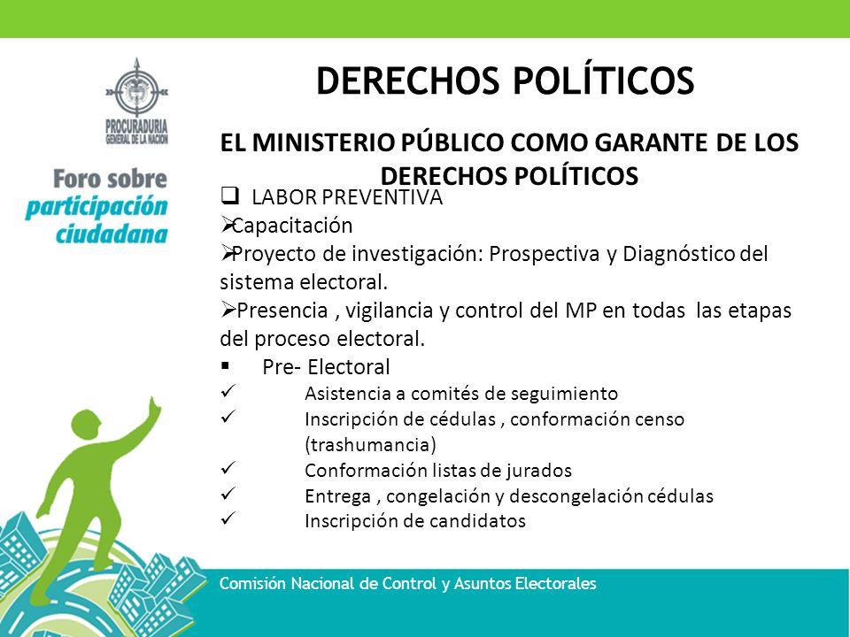 EL MINISTERIO PÚBLICO COMO GARANTE DE LOS DERECHOS POLÍTICOS
