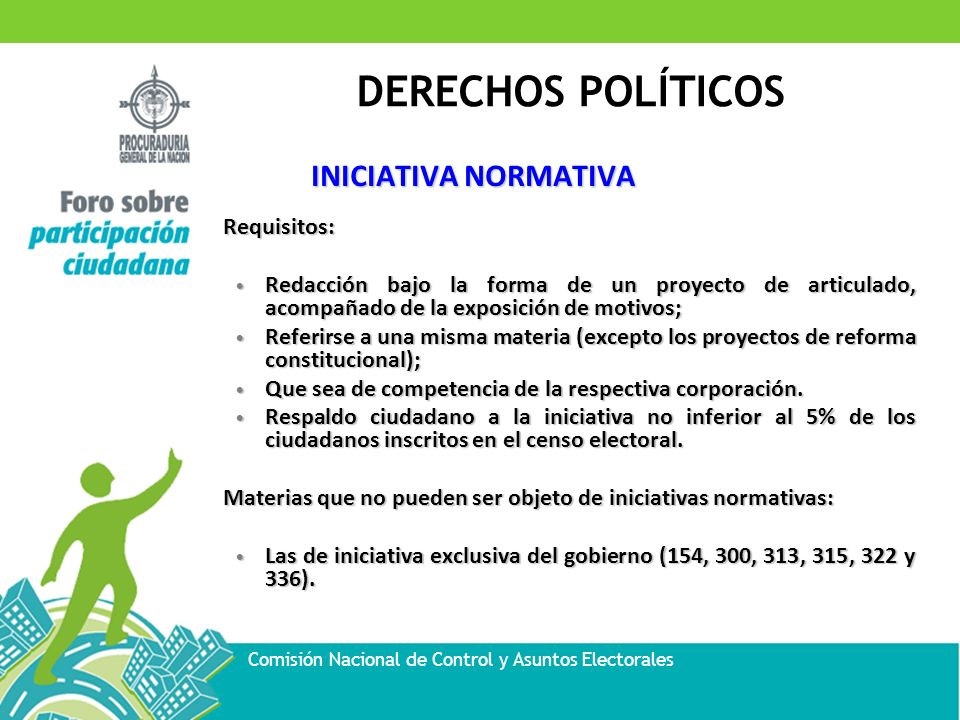 INICIATIVA NORMATIVA Requisitos: