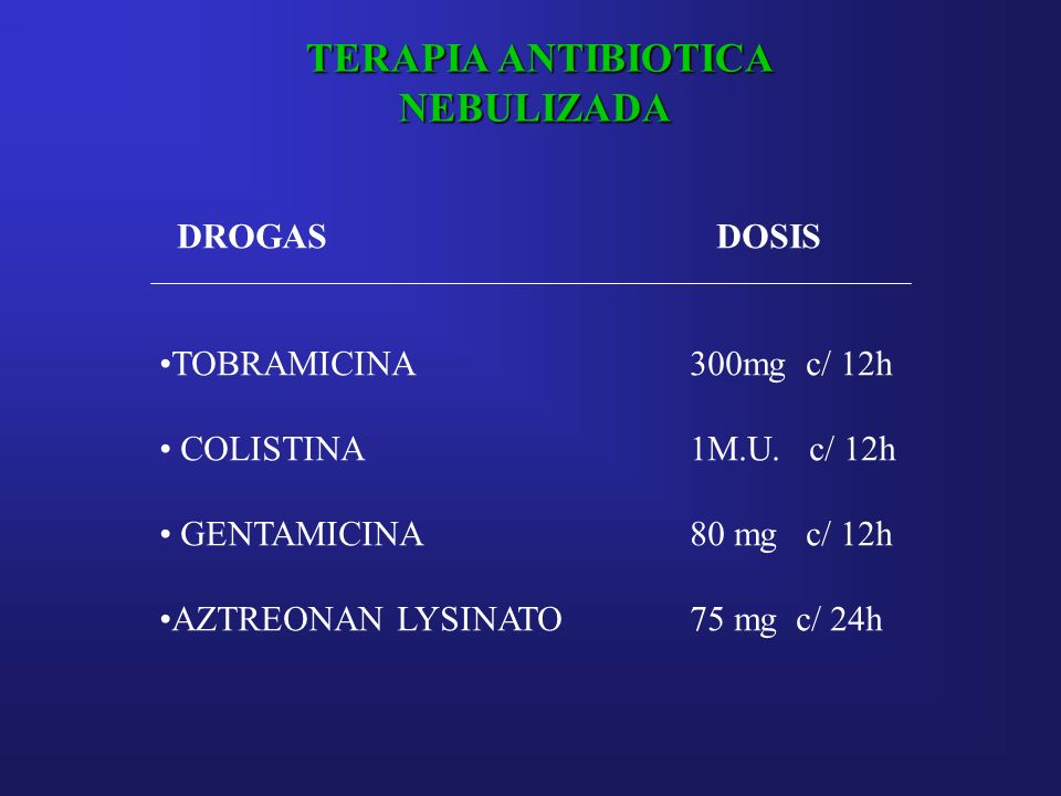 TERAPIA ANTIBIOTICA NEBULIZADA