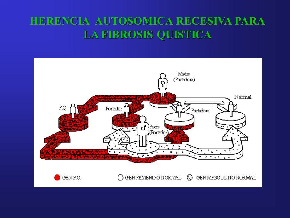 HERENCIA AUTOSOMICA RECESIVA PARA