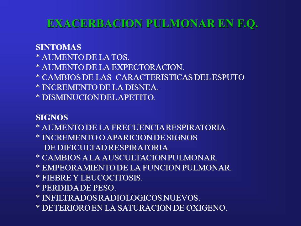 EXACERBACION PULMONAR EN F.Q.