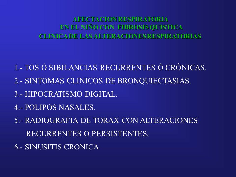 1.- TOS Ó SIBILANCIAS RECURRENTES Ó CRÓNICAS.