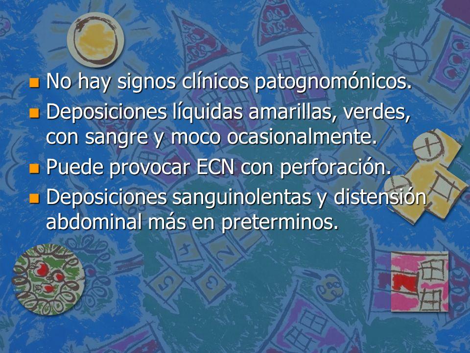 No hay signos clínicos patognomónicos.