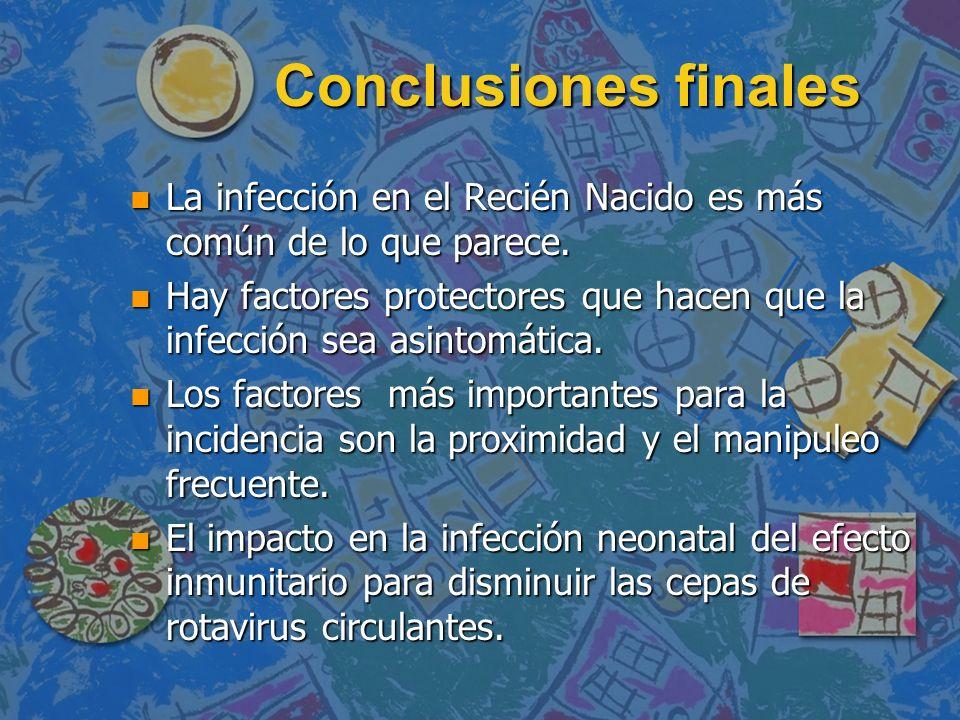 Conclusiones finalesLa infección en el Recién Nacido es más común de lo que parece.