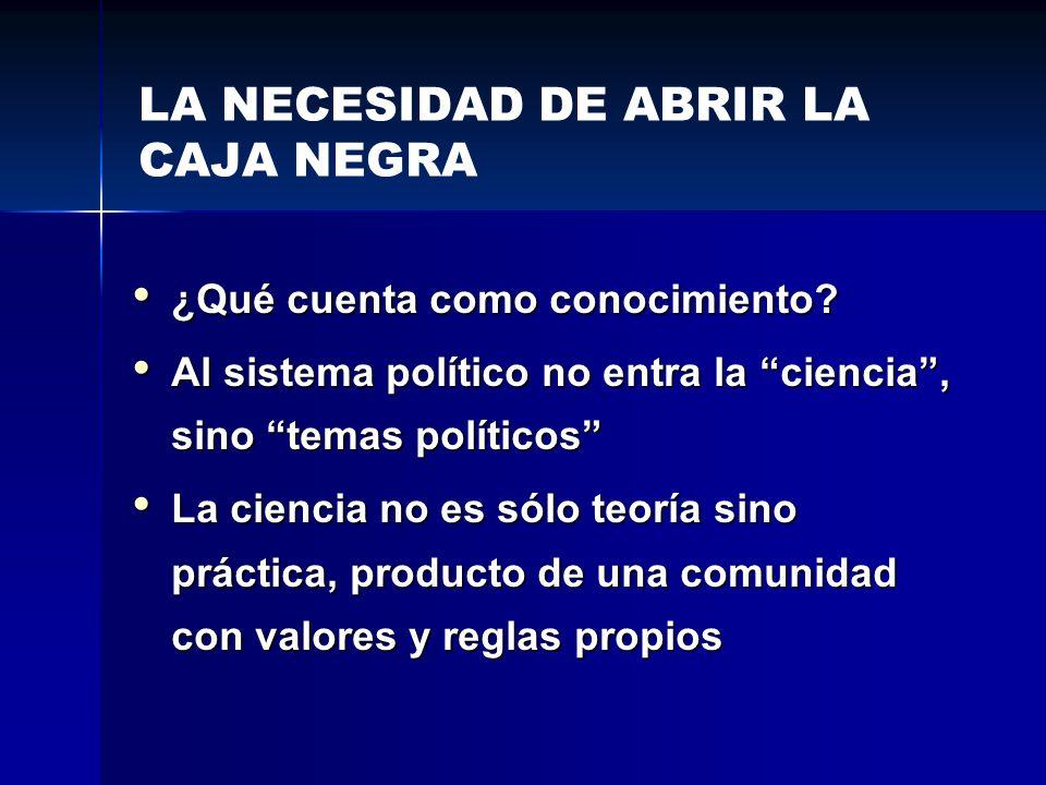 LA NECESIDAD DE ABRIR LA CAJA NEGRA