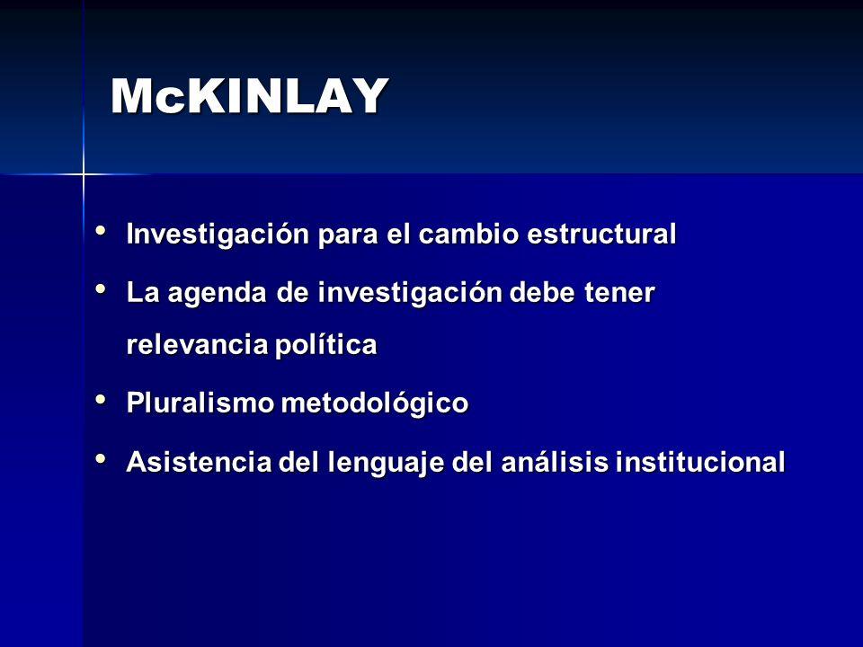 McKINLAY Investigación para el cambio estructural