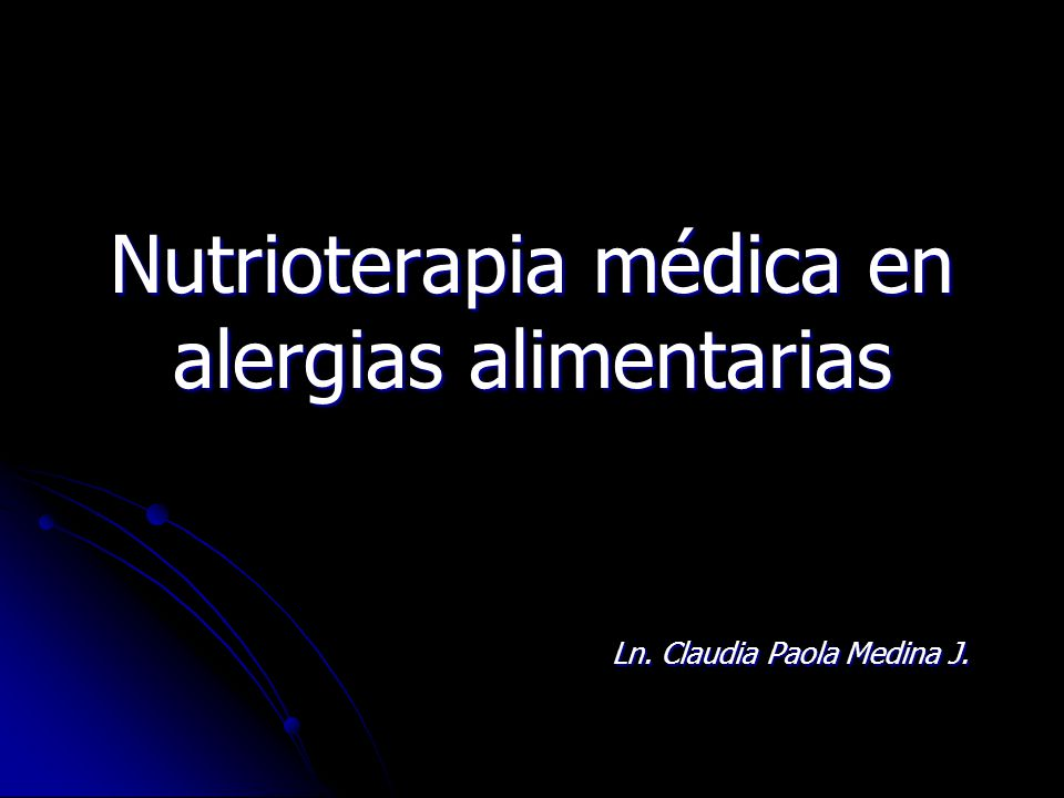 Nutrioterapia médica en alergias alimentarias
