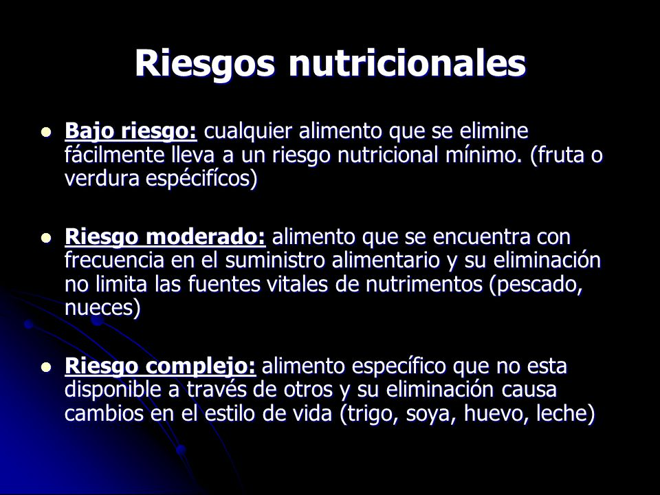 Riesgos nutricionales