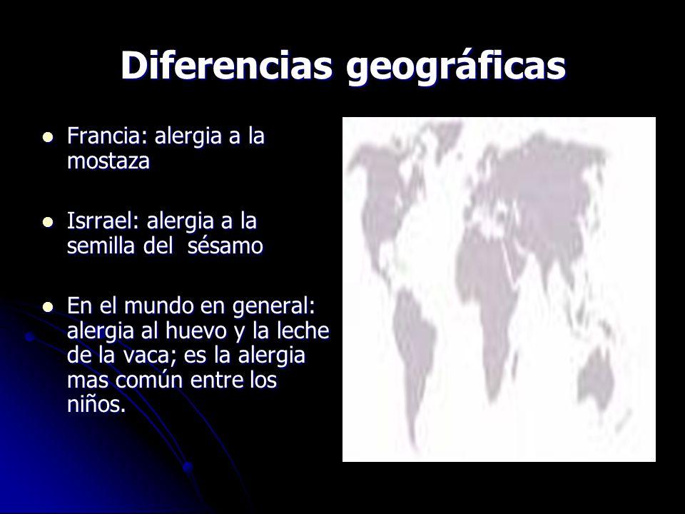 Diferencias geográficas