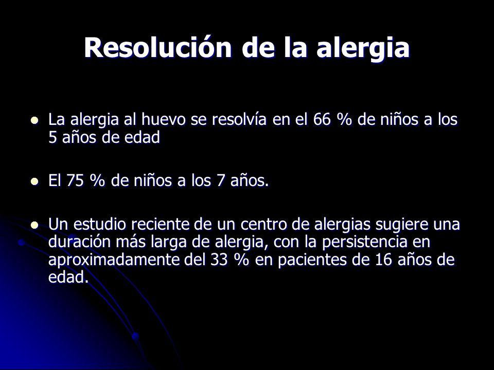 Resolución de la alergia