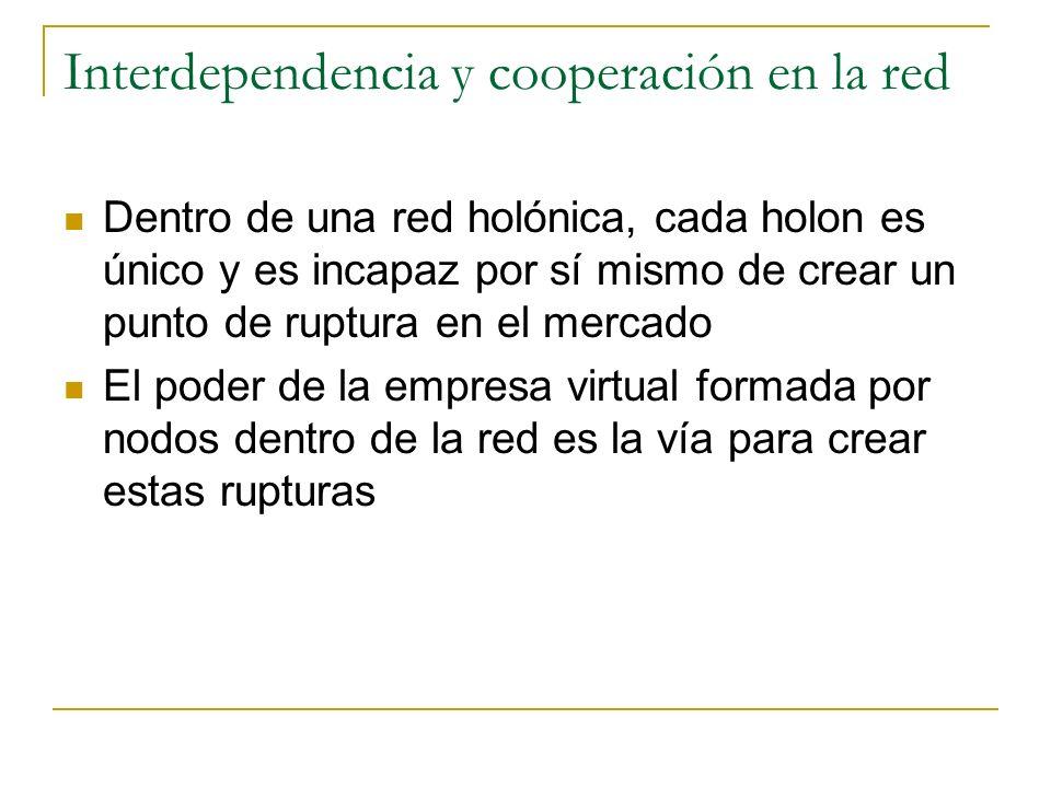Interdependencia y cooperación en la red