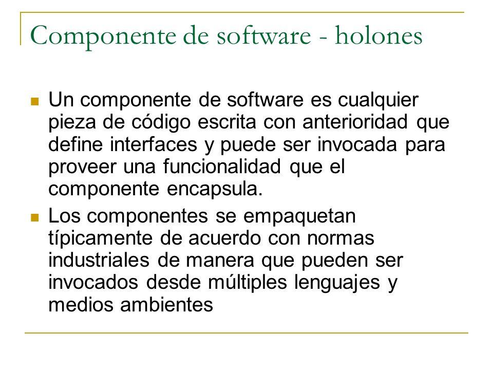 Componente de software - holones