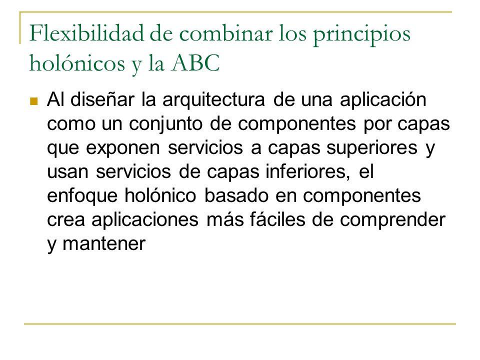 Flexibilidad de combinar los principios holónicos y la ABC