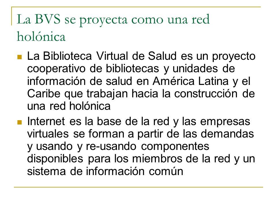 La BVS se proyecta como una red holónica
