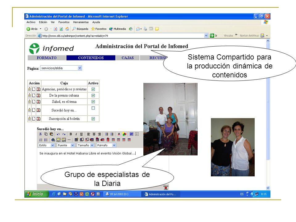 Sistema Compartido para la producción dinámica de contenidos