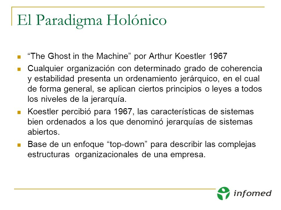 El Paradigma Holónico The Ghost in the Machine por Arthur Koestler 1967.