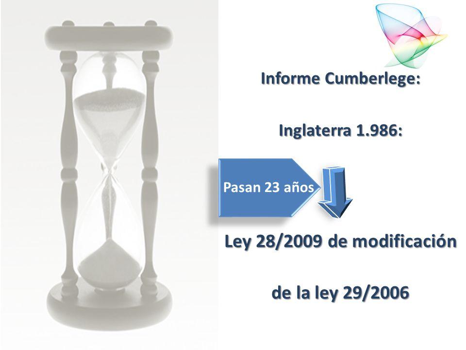 Ley 28/2009 de modificación de la ley 29/2006
