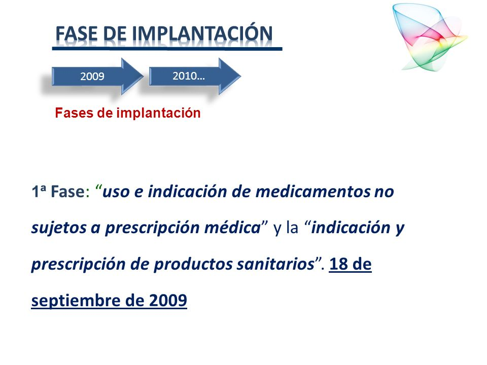 Fase de implantación2009. 2010… Fases de implantación.