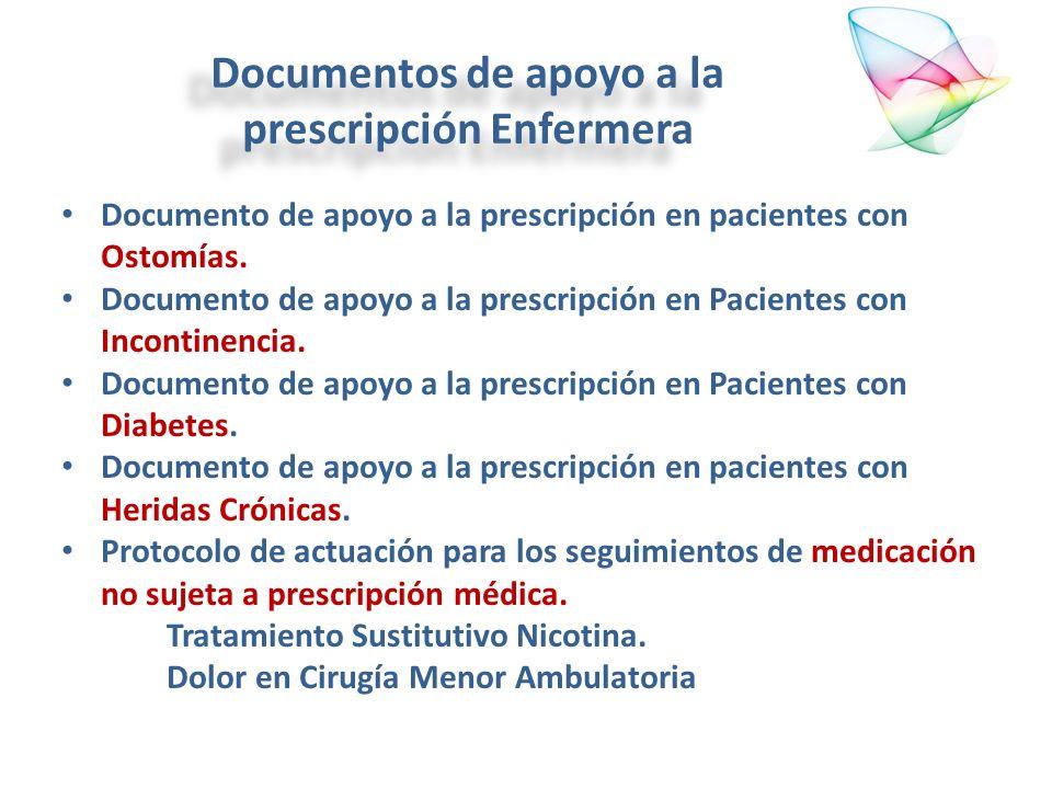 Documentos de apoyo a la prescripción Enfermera