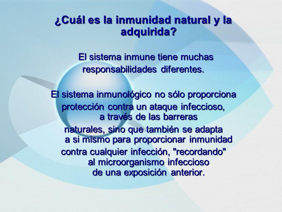 ¿Cuál es la inmunidad natural y la adquirida