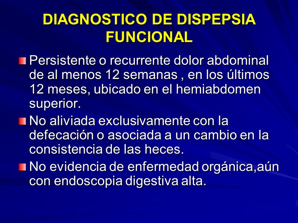 DIAGNOSTICO DE DISPEPSIA FUNCIONAL