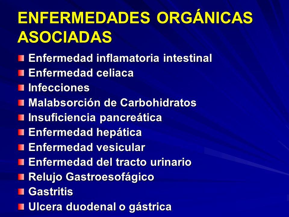 ENFERMEDADES ORGÁNICAS ASOCIADAS