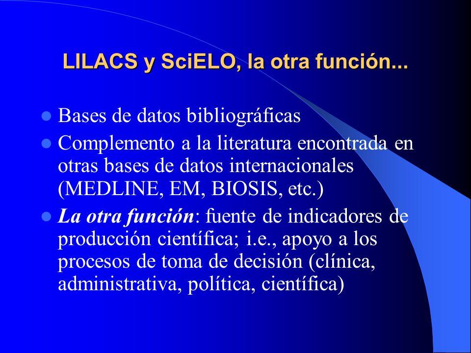 LILACS y SciELO, la otra función...