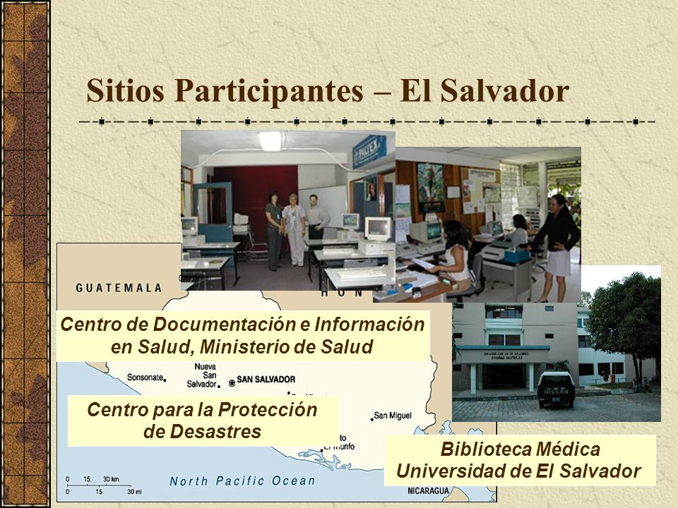 Sitios Participantes – El Salvador