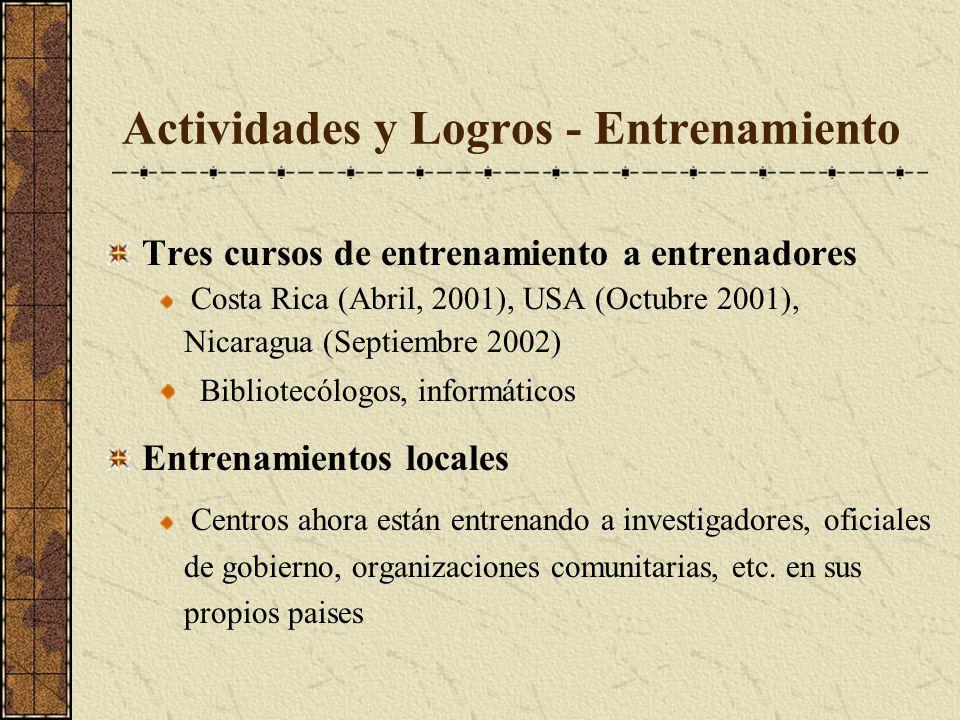 Actividades y Logros - Entrenamiento
