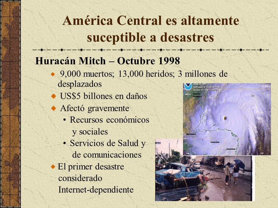 América Central es altamente suceptible a desastres