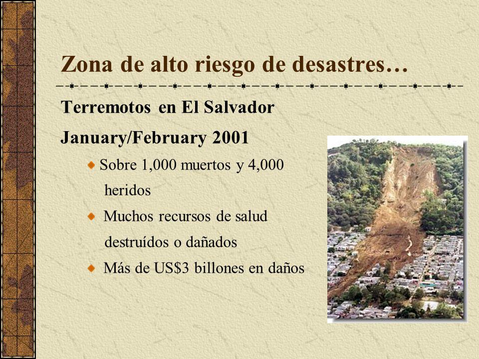 Zona de alto riesgo de desastres…