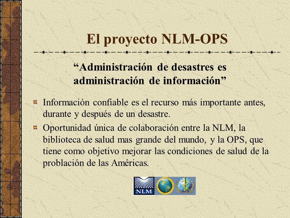Administración de desastres es administración de información