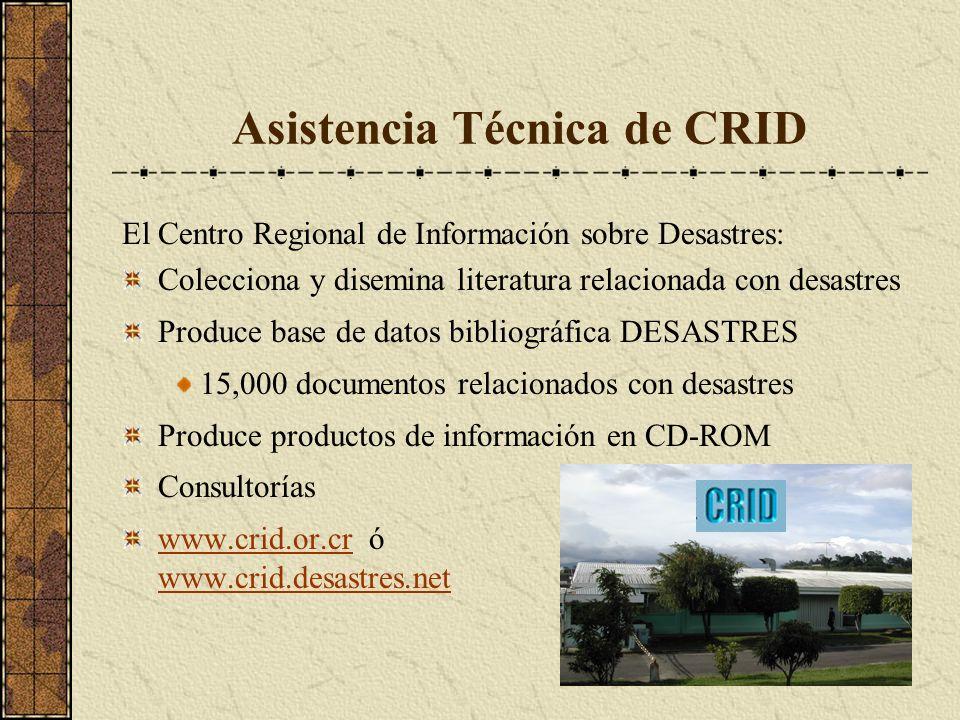 Asistencia Técnica de CRID