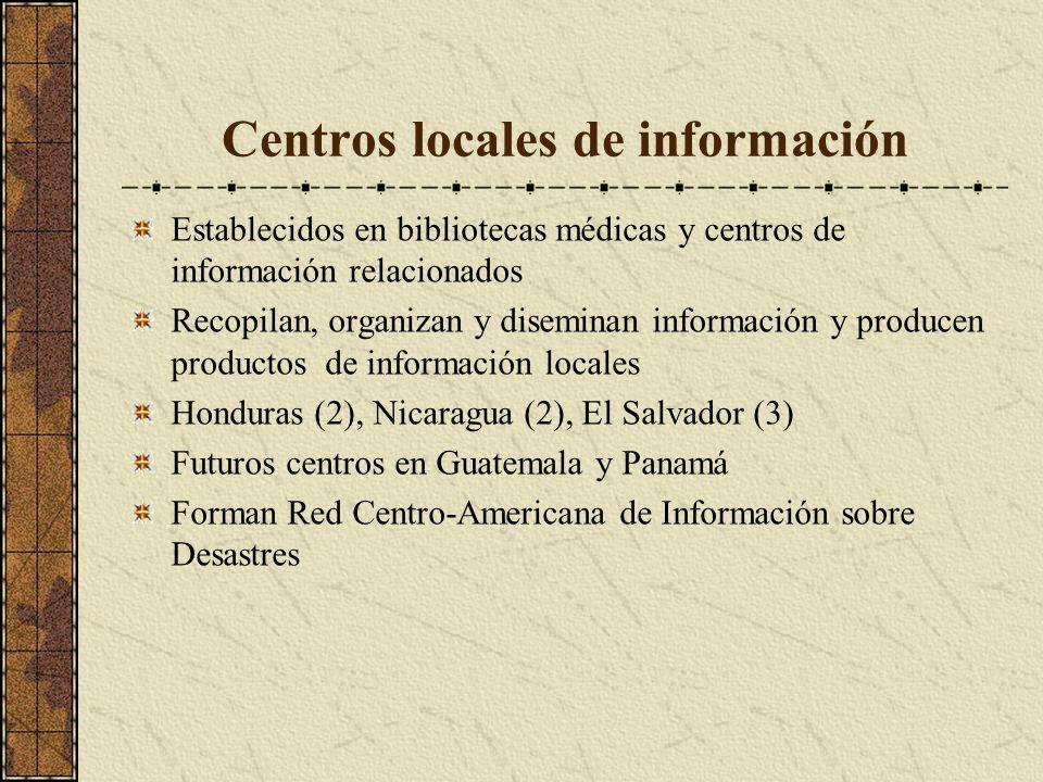 Centros locales de información