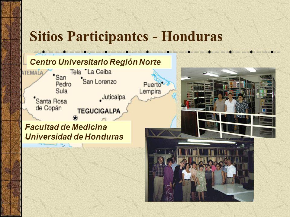 Sitios Participantes - Honduras